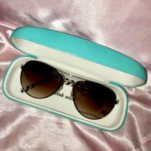 NEW Kate Spade Aviator Blossom Sunglasses W/ Case